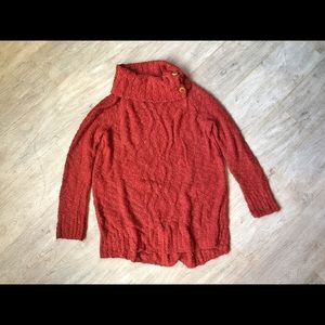 Anthropologie Orange Fall Knit Pullover Sweater!